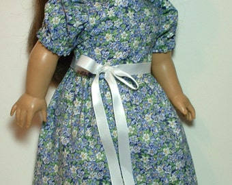 "Dainty Violets Dress, Easter Dress, 18"" doll clothes, fits American Girl doll"