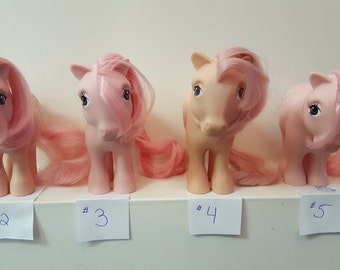 G1 My Little Pony Original 6 Cotton Candy 4 to choose from