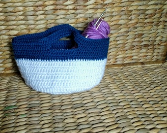 Large Handmade Crochet Basket With Handles