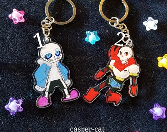 "2"" UNDERTALE SKELEBRO acrylic charms, keychain or phone strap!"