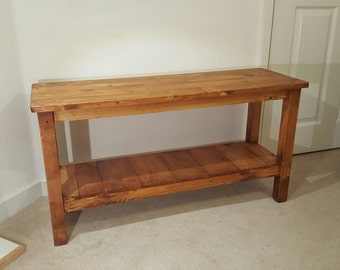 Wooden Shoe Rack, Hall Bench, Handmade, Solid Rustic Wood (reclaimed wood)