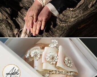 BRACELET BOUQUET_ Wedding Bridal Bouquet  Wedding Dress Wedding Jewelry Bridesmaids Wedding  Bouquet strass pink made to order custom