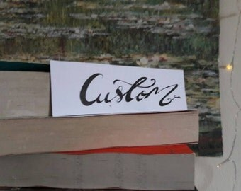 Personalised custom bookmark