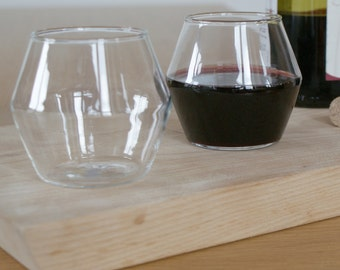 WINO set of four stemless wine glasses