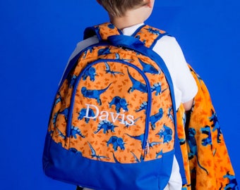 Dino-Mite Monogrammed Backpack ~ Monogrammed Toddler Bag ~ Monogram Toddler Backpack ~ Monogrammed Boys Backpack ~ Personalized Backpack