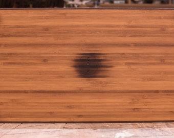 Layered Bamboo and Ipé Cutting Board w/ Ipé Edge banding