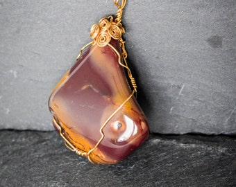 Polychrome Jasper pendant unique