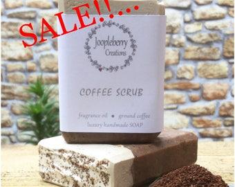 SALE!!...Handmade Soap. Coffee Grounds. Exfoliating. 130g