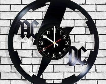Wall clock ACDC, clock on the wall