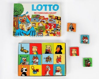 Vintage game-fabeltjeskrant Lotto