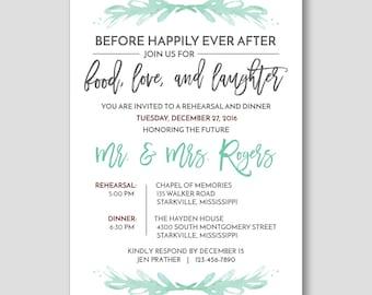Printable Wedding Rehearsal Invitation