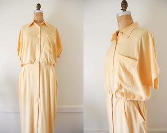 Dandelion Linen Blend Collared Button Down Dress