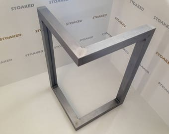 L shaped steel table legs for dining / coffee table or office desk by STOAKED - Customisable