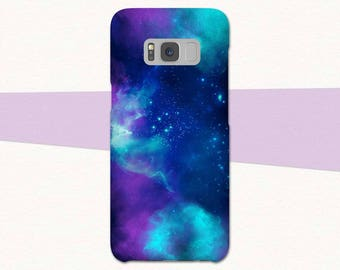 Outer Space Galaxy S8 Case, Purple Blue Galaxy S7 S6 S5, Stars Galaxy Case, Samsung Galaxy S8 Plus, S9 Plus Galaxy A3 A5, Phone Case S9 Case