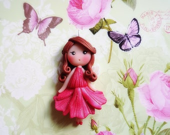 Magical collection: fairy Roselia disney doll necklace
