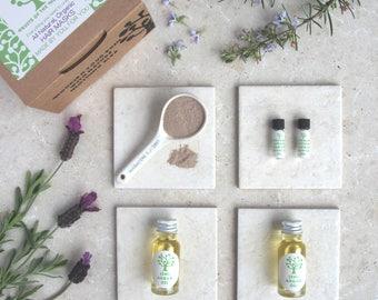 All Natural Make Your Own Hair Mask Kit // All Natural Organic Hair Care // Vegan