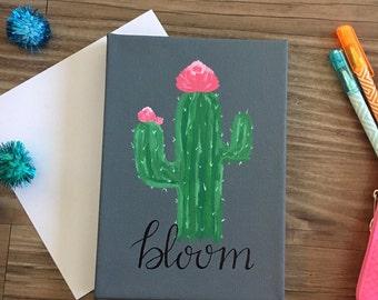 "Cactus Flower ""Bloom"" Canvas"