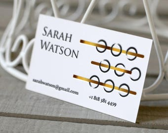Gold Letterpress Business Card Design and Print, Business Card, Custom Letterpress Business Cards