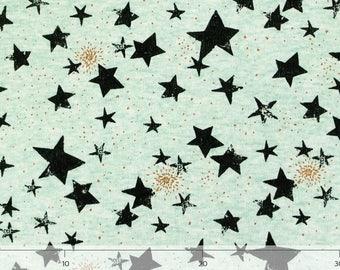 Sweat mint melange fabric Starlight-