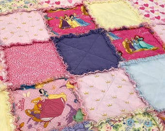 Disney Princess Raggy Quilt