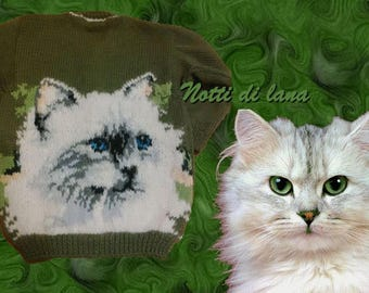 baby sweater with cat