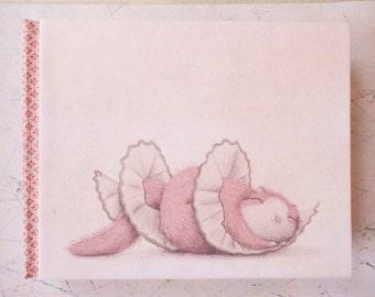 Handmade Journal - Pink kitten