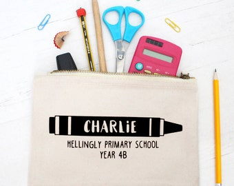 Personalised Back To School Pencil Case