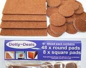 Oak Wood Protection Laminate Floor Furniture Round Protectors Felt Pads x 56