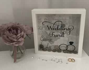 Money box wedding funds personalised