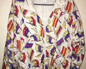 Medium Lavon flag windbreaker jacket