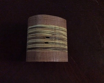 Handmade wooden colored pencil holder