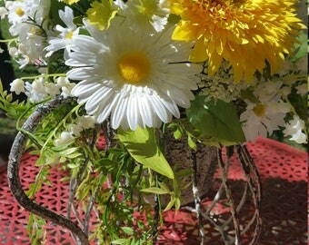 Daisy Watering Can flower arragement