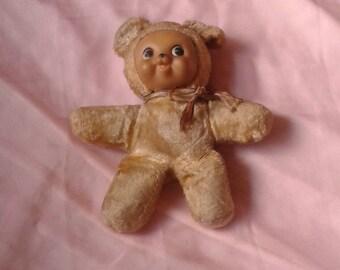 Rare vintage Rushton rubber face bear