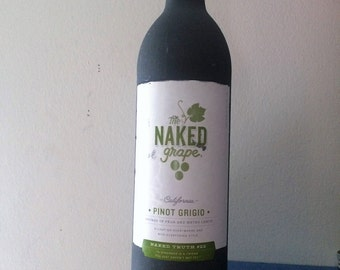Naked Chalkboard Wine Bottle