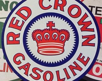 Red crown gas / oil steel advertising sign