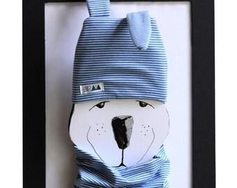 Rabbit-soft baby Cap