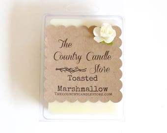 Toasted Marshmallow Double Scented Soy 3oz Wax Melt Claimshell six pack, Mix & Match 5 for 20.00