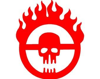 Mad Max Fury Road Skull Vinyl Decal Car Window Laptop Sticker