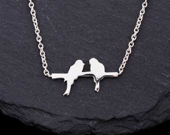 Animated Twitter in silver//Gifts for women//necklace with bird from silver//Valentine's Day gift//Necklace Sterling Silver