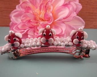 4 inch Metel Barrette with Dogs