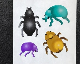 Sandylion Stickers Vintage, Scrapbooking, Beetle, Beetles, insects, bugs, insect, bug (1 mod)