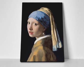 Girl with a Pearl Earring Poster or Canvas by Johannes Vermeer | Girl with a Pearl Earring Poster or Canvas