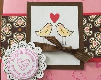 Love birds, valentine day card