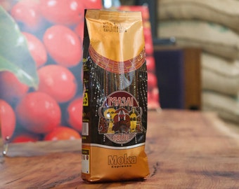 Orange Moka Espresso Roasted/Ground Coffee 250grms