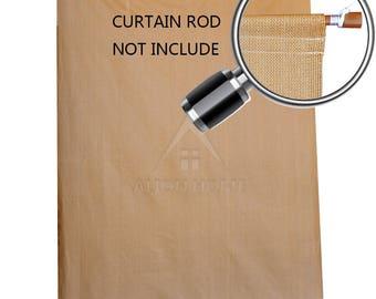 Custom Sized Sun Shade Rod Pocket Panel for Patio,Awning, Window Cover, Instant Canopy Side Wall, Pergola or Gazebo - Coffee