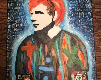 Ed sheeran painting 8x10 PRINT