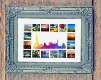 Paris Cityscape with Photo Collage