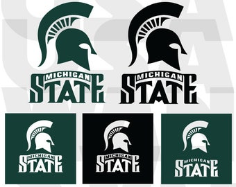 Michigan State spartans svg, Michigan State spartans  png, Michigan State spartans svg ncaa basketball dxf logo vector instant download
