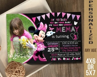 Minnie Mouse / Minnie Mouse Invitation / Minnie Mouse Birthday / Minnie Mouse Party / Minnie Mouse Invite / Minnie Mouse Birthday Invitation