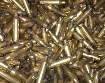 243 brass 50 pieces once fired dirty brass